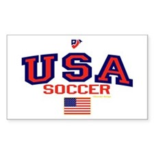 USA American Soccer Decal