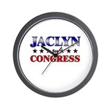 JACLYN for congress Wall Clock