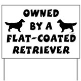 Flat-coated Retriever Yard Sign