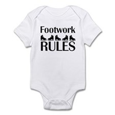 Footwork Rules Black Infant Bodysuit