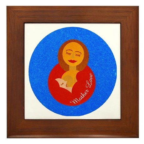 Mother Love Framed Tile