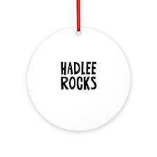 Hadlee Rocks Ornament (Round)