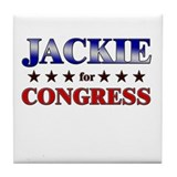 JACKIE for congress Tile Coaster
