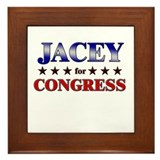 JACEY for congress Framed Tile