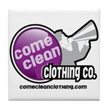 Come Clean Logo Tile Coaster