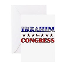 IBRAHIM for congress Greeting Card