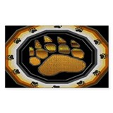 BEAR PAW IN BEAR PRIDE DESIGN Sticker (Rectangular