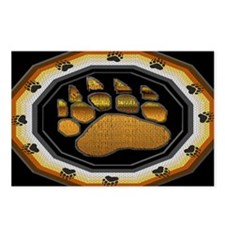 BEAR PAW IN BEAR PRIDE DESIGN Postcards (Package 8