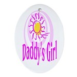 Daddy's Girl Oval Ornament