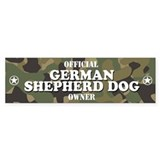 GERMAN SHEPHERD DOG Bumper Car Sticker