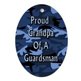 Proud grandpa of a Guardman Oval Ornament