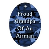 Proud grandpa of an Airman Oval Ornament