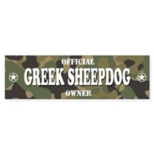 GREEK SHEEPDOG Bumper Bumper Sticker