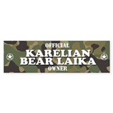KARELIAN BEAR LAIKA Bumper Car Sticker