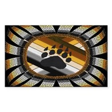 BEAR PAW PRIDE DESIGN/BLACK Rectangle Decal