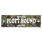 PLOTT HOUND Bumper Bumper Sticker