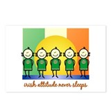 Irish Attitude Never Sleeps Postcards (Package of