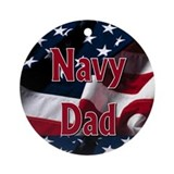 Navy dad Ornament (Round)