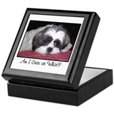 Cute Shih Tzu Dog Keepsake Box