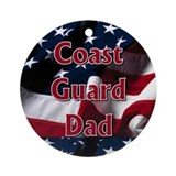Coast Guard dad Ornament (Round)