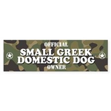 SMALL GREEK DOMESTIC DOG Bumper Bumper Sticker