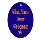 Viet Nam War Veteran Oval Ornament