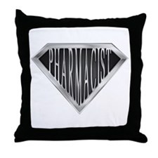SuperPharmacist(metal) Throw Pillow