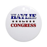 HAYLIE for congress Ornament (Round)