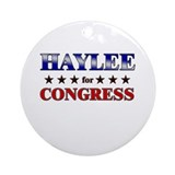 HAYLEE for congress Ornament (Round)