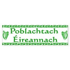Irish Republican (in Irish) Bumper Car Sticker
