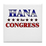 HANA for congress Tile Coaster