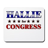 HALLIE for congress Mousepad