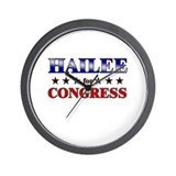 HAILEE for congress Wall Clock