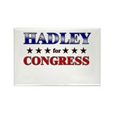 HADLEY for congress Rectangle Magnet
