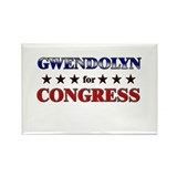 GWENDOLYN for congress Rectangle Magnet (10 pack)