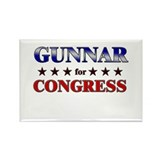 GUNNAR for congress Rectangle Magnet