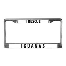 I Rescue Iguanas License Plate Frame