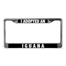 I Adopted An Iguana License Plate Frame