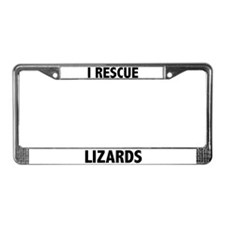 I Rescue Lizards License Plate Frame