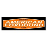 AMERICAN FOXHOUND Bumper Car Sticker