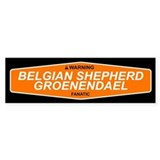 BELGIAN SHEPHERD GROENENDAEL Bumper Bumper Sticker