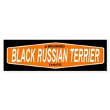 BLACK RUSSIAN TERRIER Bumper Car Sticker