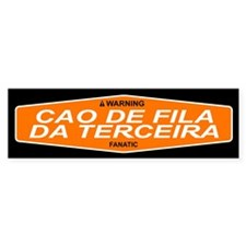 CAO DE FILA DA TERCEIRA Bumper Bumper Sticker