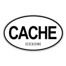 Geocaching Auto Oval Decal