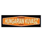 HUNGARIAN KUVASZ Bumper Car Sticker