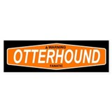 OTTERHOUND Bumper Car Sticker