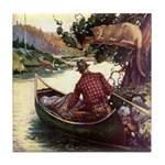 Wilderness Canoe Tile Coaster
