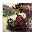 Wilderness Canoe Tile Coaster