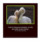 Love is Our Nature Tile Coaster