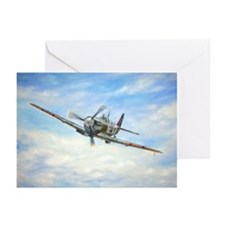 Cute Raf spitfire fighter plane Greeting Cards (Pk of 20)